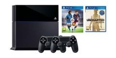 PlayStation4 1TB Gaming Console + Controller +2 gmaes - CUH-1116BB01Y