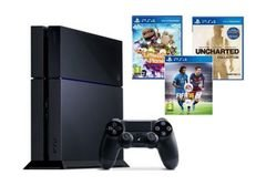 PlayStation4 1TB Gaming Console - 3 PS4 Games - model CUH-1116BB01Y