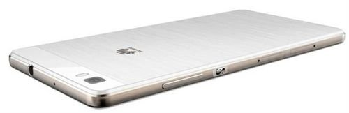 White Huawei P8lite smartphone back 16GB