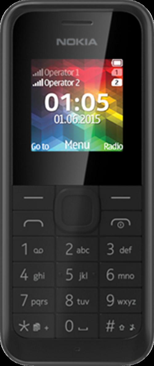 Nokia 105 Dual Sim mobile 4MB RAM 1.4 inch Black