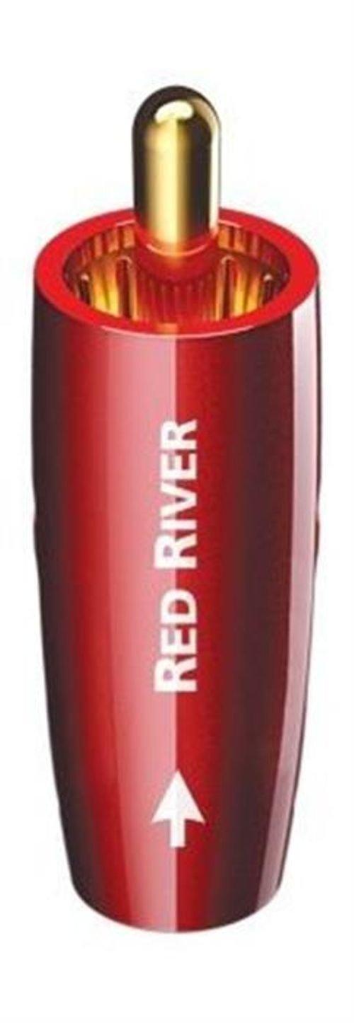 كابل أوديوكويست - توصيل أر سي إيه / فئة ريفر - لون أحمر  - RCARRIVER