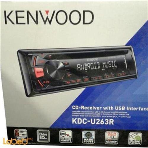 مسجل كينوود للسيارة - سي دي - منافذ USB و AUX - اسود - KDC-U263B