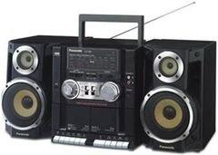 Panasonic Radio Cassette Recorder - 220W - RX-CT600GU-K