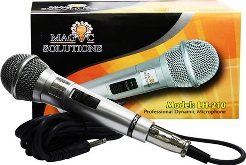 Magic Sing Corded Microphone black color LH-210 model