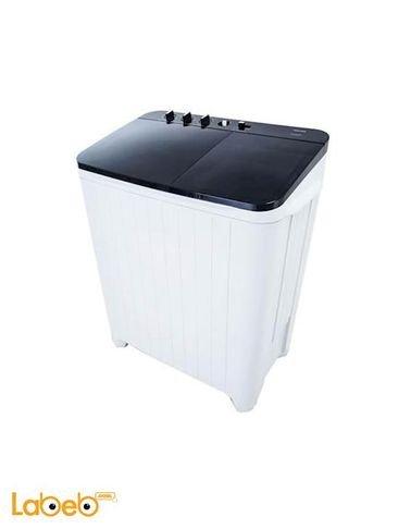 غسالة تعبئة علوية حوضين توشيبا 9 كغم أبيض/أسود VH-B1100WB