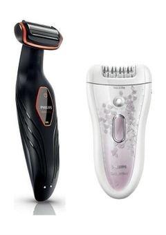 ماكينة حلاقة الجسم + ماكينة إزالة الشعر - فيلبس BG2024/15 + HP6577/00