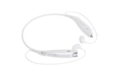 سماعات لاسلكية LG بلوتوث 3.0 لون أبيض موديل HBS-730
