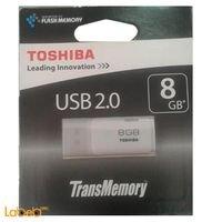 فلاش USB توشيبا ذاكرة 8 جيجابايت THNU08HAYWHT(6