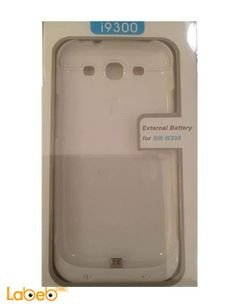 mobile cover & charger - for Samsung Galaxy S3 - 3500mAh - White