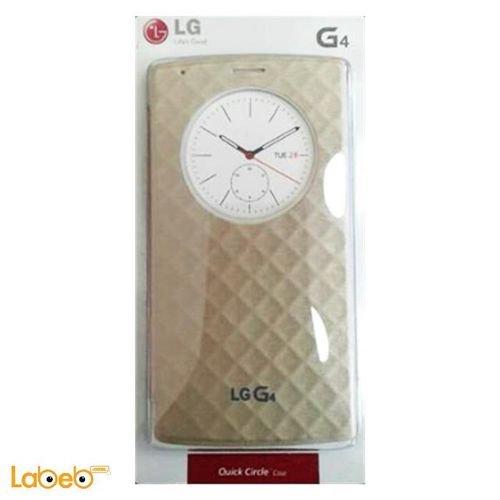غطاء لموبايل LG G4 لون بيج