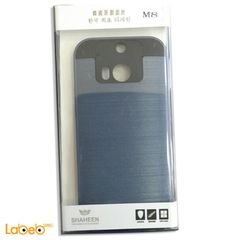 غطاء للموبايل شاهين - لموبايل HTC أم 8 - لون ازرق واسود