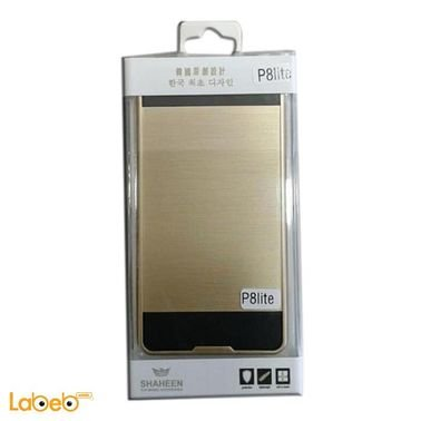 Shaheen mobile cover - suitable for Huawei P8lite  - Gold color