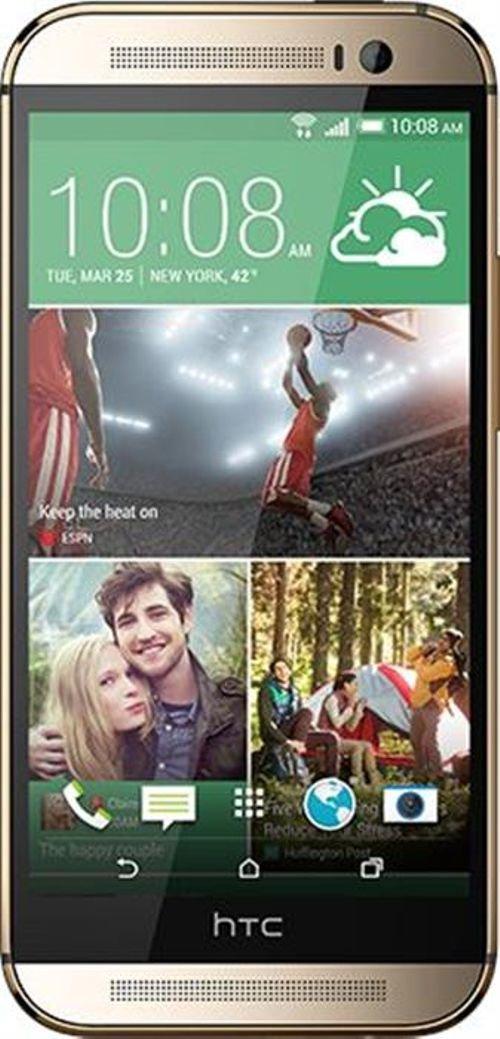 شاشة موبايل إتش تي سي وان أم 8 32 جيجابايت لون ذهبي HTC ONE M8