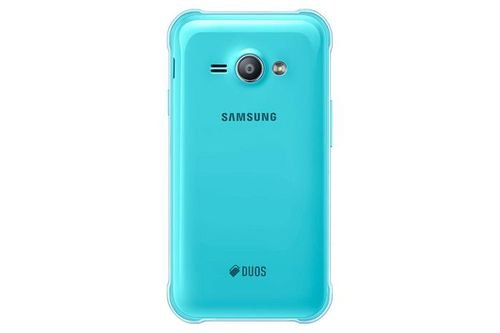 Samsung Galaxy J1 Ace smartphone back Blue color