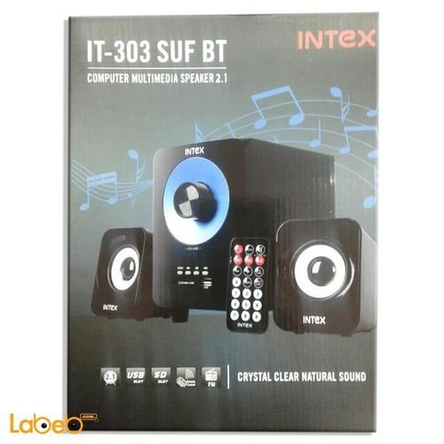 مكبر صوت انتيكس 2.1 للكمبيوتر اسود وازرق IT-303 BT
