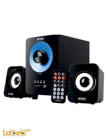 مكبر صوت انتيكس 2.1 للكمبيوتر تصميم اسود وازرق  IT-303 BT
