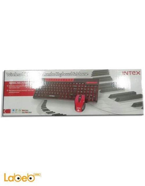 لوحة مفاتيح وفأرة لاسلكيات انتيكس احمر واسود IT DUO801