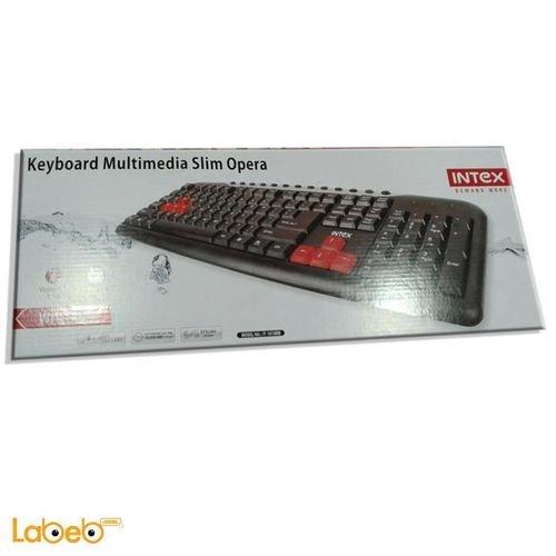 لوحة مفاتيح انتيكس لاسلكية سليم اوبيرا احمر واسود IT-1018