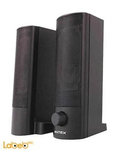 Intex usb computer speaker 2.0 - black color - frequency 20Hz