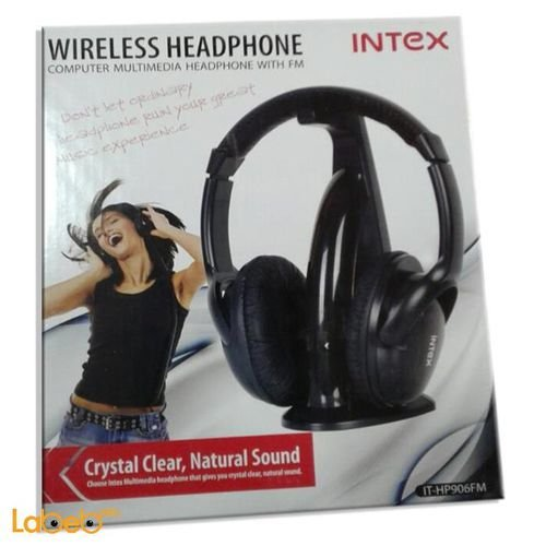 Intex wireless black IT HP906FM