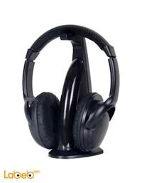 سماعات رأس لاسلكية انتيكس لون اسود مع مايكرفون IT HP906FM