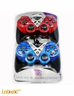 Xform Double shock game controller - red and blue -  XF-PC09