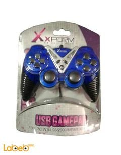 XForm USB Single game controller - blue color - XF-PC08