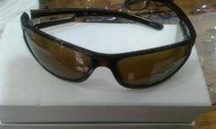 نظارات شمسية فيلا - أصلية - اطار بني غامق - عدسة صفراء -  SF8838K