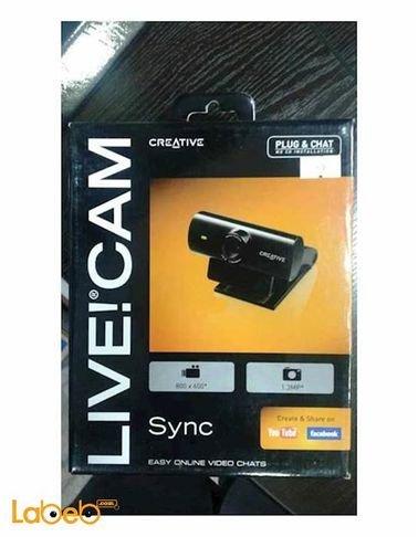 كاميرا ويب كرييتيف لايف VF0520 - دقة 1.3 ميجابكسل - اسود