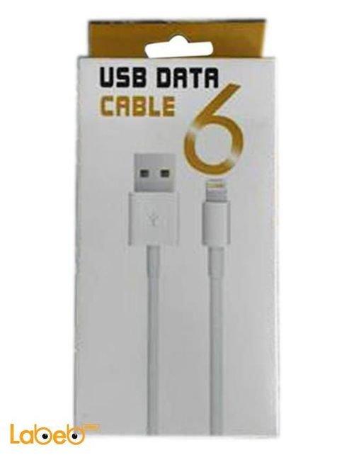 USB لايتنينج 6H لايفون 5 و 6 ابيض