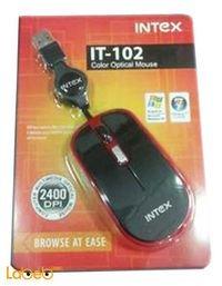 سلكية للكمبيوتر انتيكس اسود واحمر IT-OP102