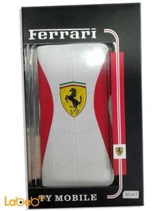 Ferrari Cover and Protector for Iphone 6 - White & Red color