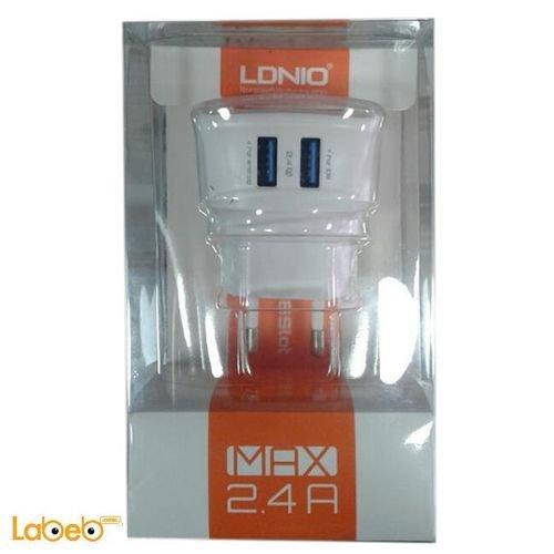 محول AC لدينيو منفذين USB لجميع أنواع الشواحن DL-AC 59