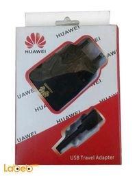 شاحن هواوي يحوي محول USB للسفر لون اسود AG-006