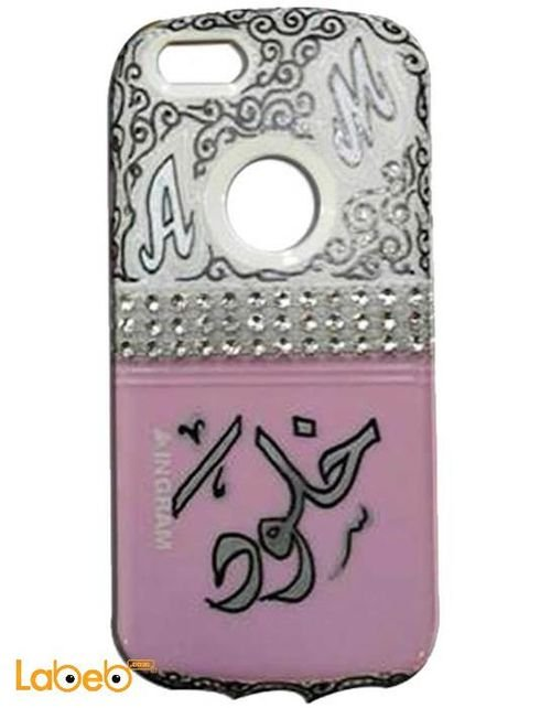 Pink & White Ingram Iphone 5 case