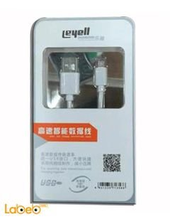 leyell charger and transfare cable - for samsung mobiles - white