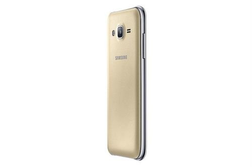 Gold Samsung galaxy J2 smartphone side