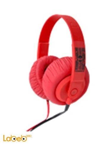 سماعة رأس تتناسب مع الحواسيب والموبايلات احمر موديل SDJ 750