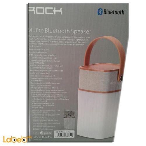 مواصفات سماعة روك موليت بنظام بلوتوث ضوء مبني يمكن التحكم فيه AUX