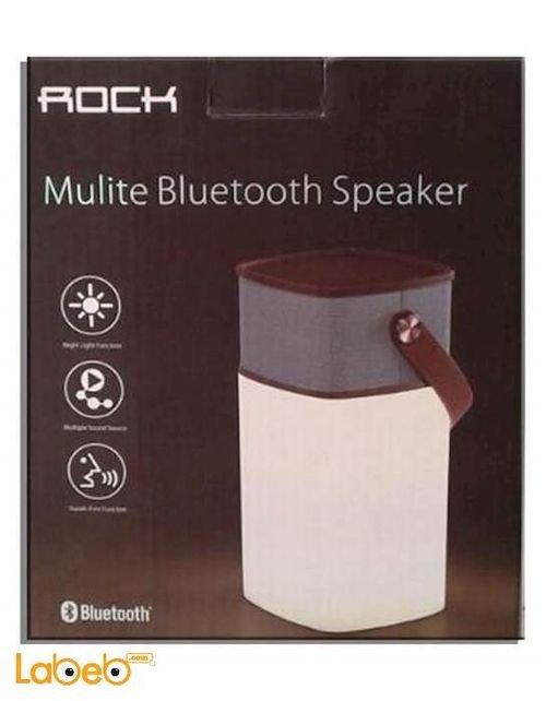 سماعة روك موليت بنظام بلوتوث ضوء مبني يمكن التحكم فيه AUX