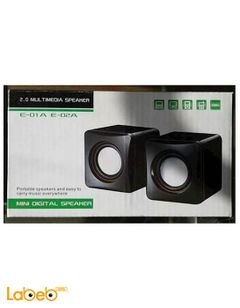mini digital speaker - 2.0 multimedia - black - E 01A E 02A