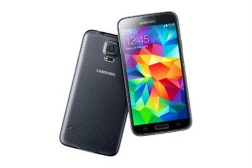 back side Samsung Galaxy S5 Black 16GB