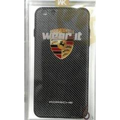غطاء خلفي wear it  - ايفون S6 بلس - ابيض واسود - صورة ماركة بورش