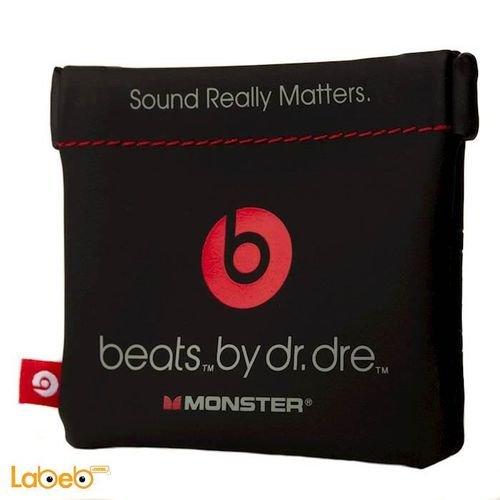 سماعات اذن بيتس تصميم دكتور دري تشمل مايكروفون احمر