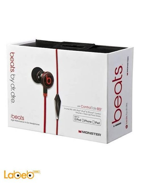 Beats Earphones Dr dre design with microphone Red color