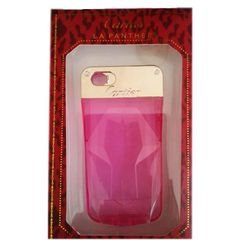 Cartier Mobile back cover - for iphone 5 - pink and gold color