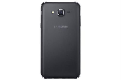 Black Samsung Galaxy J7 Smartphone back