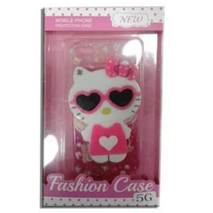 Mobile back cover - for samsung galaxy 5J - pink & Hello kitty