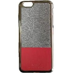 iPhone 6S protector case - Red color with silver stones