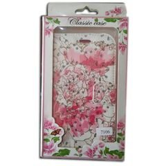 Classic case Mobile cover - for Samsung grand 2 - pink flower